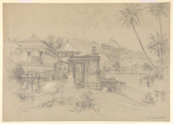 Temple of Buddha's Tooth, Kandy (Ceylon). 18 April 1870